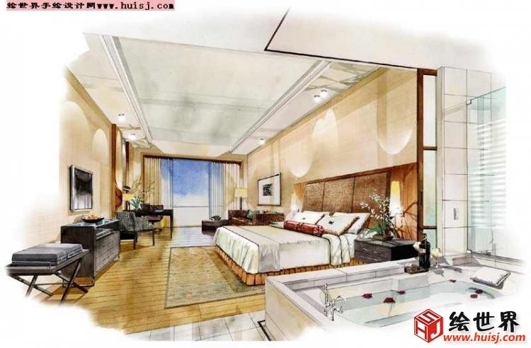nEO_IMG_酒店标准客房手绘效果图.jpg