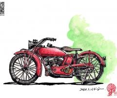 常工手绘丨摩托车