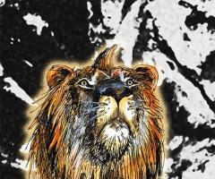 手绘冥河狮王